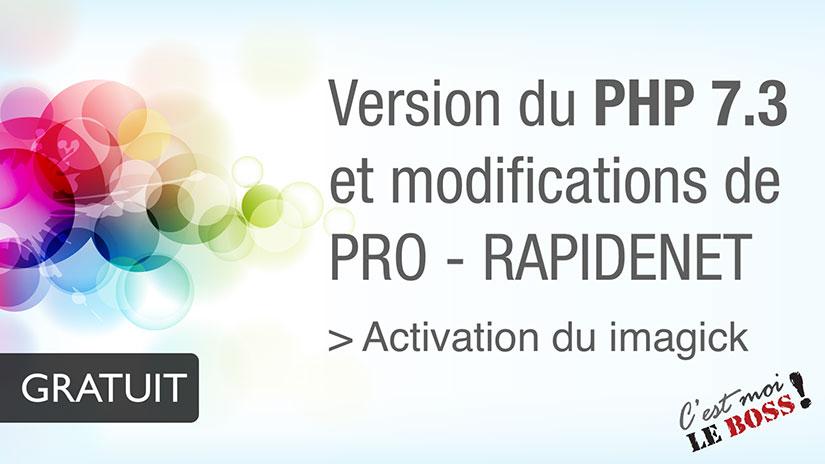 Changer la version de PHP - RapideNet