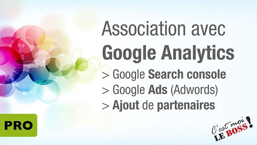 Association avec Google Analytics et Search Console