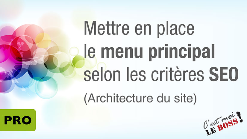 architecture du site web - menu