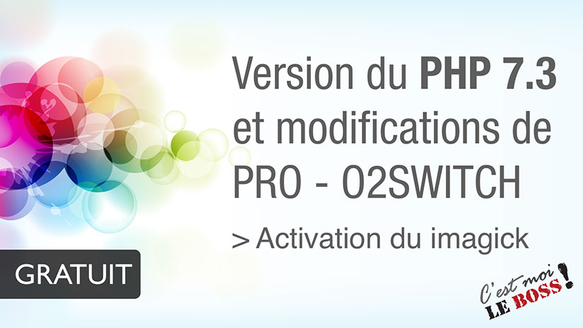 Version PHP - o2Switch