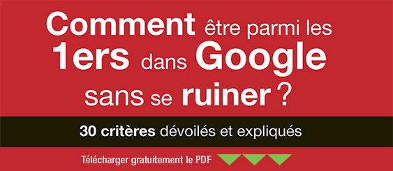 guide gratuit comment être premier dans google