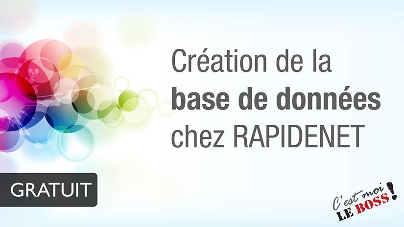 Création de la base de donnée | RapideNet