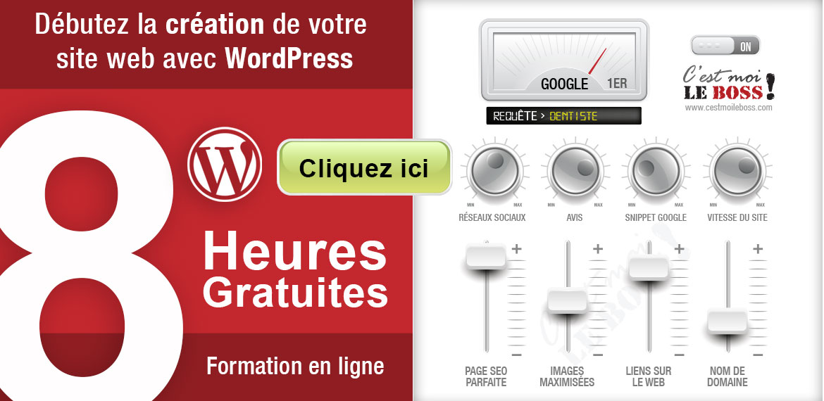 8h de formation gratuite sur WordPress