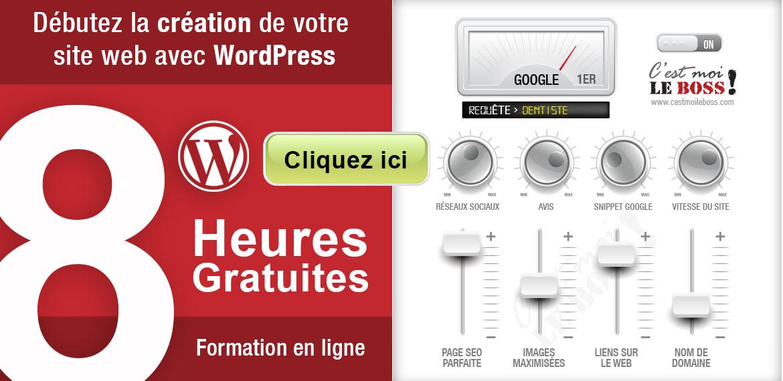 8h de formation gratuite sur WordPress