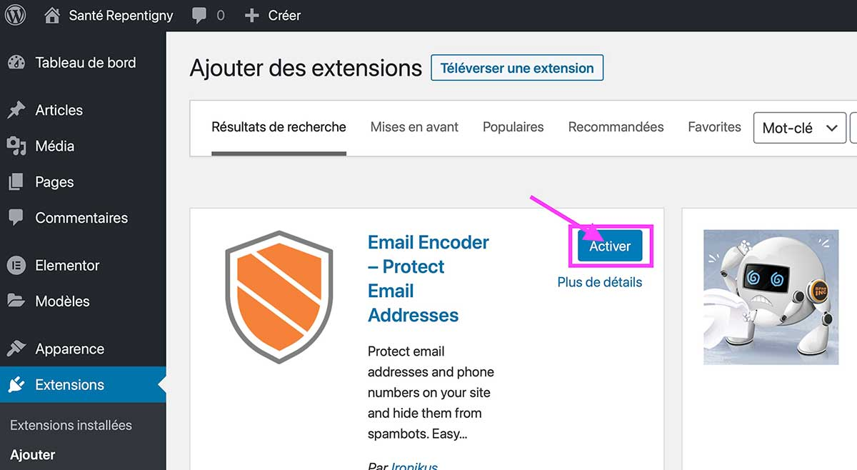 Email Encoder – Protect Email Addresses Etape 3